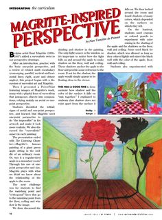 Magritte-inspired perspective. Cool! Arts & Activities