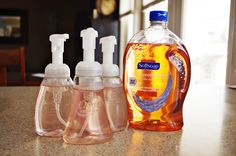 Make your own Foaming Hand Soap.