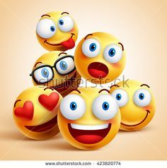 Smiley faces group of vector emoticon characters with funny facial expressions. … Smiley faces group of vector emoticon characters with funny facial expressions. Smiley Face Images, Images Emoji, Iphone 3, Funny Group Chat Names, Smiley T Shirt, Funny Facial Expressions, Smiley Emoticon, Combattre La Cellulite, Quotes
