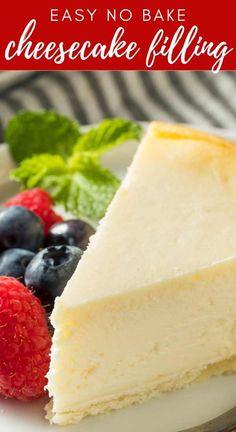 Cheesecake Fruit Salad, No Bake Cheesecake Filling, Cheese Cake Filling, Easy Cheesecake Recipes, Cheesecake Desserts, No Bake Desserts, Easy Desserts, Dessert Recipes, Parfait Recipes