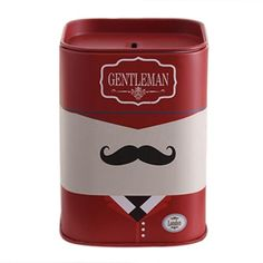 Stationery Pen Container Cartoon Piggy Bank Tin Piggy Bank - Red And Black Beard