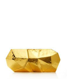 gold geo minaudiere // 30% off today only with code CYBER13