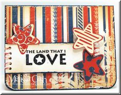 Sentiment: Our Craft Lounge-Star Spangled Cardstock: Bo Bunny-Liberty Adhesives: Tombow Mono Dots Roller, Tombow Foam Tabs