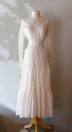 Antique Edwardian Wedding Dress  Vintage 1910s by xtabayvintage