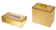 bathroom tissues boxes, jars, toothbrush holders, soap dispensers and more with gold or silver finish, coated with hand placed Swarovski crystals Toothbrush Holders, Soap Dispensers, Tissue Boxes, Bathroom Accessories, Jars, Swarovski Crystals, Decorative Boxes, Silver, Gold