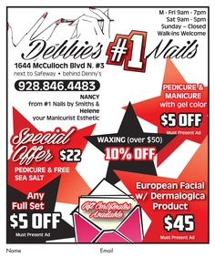 cacd8c667d7 ...  European  facial with dermalogica product at Debbie s  1 Nails for only   45!  adspay  nailsalon  manicure  pedicure  waxing  fullsetnails  coupons   lhc