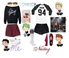 """""""5sos concert in VA (with @penguinember)"""" by kmjfashion ❤ liked on Polyvore featuring Linda Farrow, Converse, Levi's and Vans"""