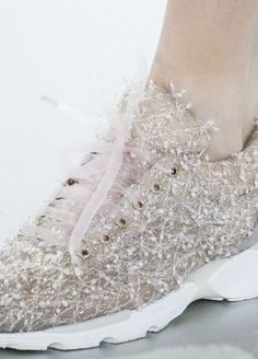 What do we have to do to get our hands on a pair of these amazing Chanel sneakers!? #Chanel #HauteCouture