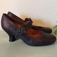 Brown Leather Mary Janes