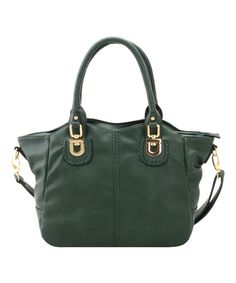 Look what I found on #zulily! Adhesion, LLC Forest Green Whip-Stitch Tote by  #zulilyfinds