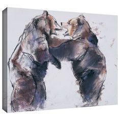Playfight' by Mark Adlington Painting Print Gallery-Wrapped on Canvas