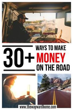 Want to find ways to make money while living the van life or full-time RVing? Here are over 30 ways to make money remotely which will inspire you to live a life of freedom and travel. #vanlife #campervan #remotework #RVing #RVfulltime #digitalnomad #nomad via @thewaywardhome
