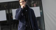 http://chicerman.com  billy-george:  Loving the knit coat! Photo by George Elder  #streetstyleformen