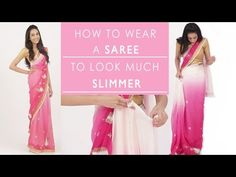 How To Wear A Saree To Look Slim - YouTube glamrs.com
