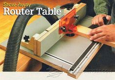 Stow-Away Router Table DIY - Router Tips, Jigs and Fixtures | WoodArchivist.com