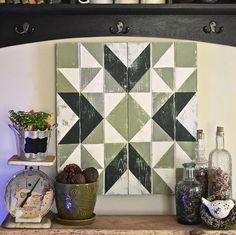 Wyoming Valley Barn Quilt If you love distressed things like me then this perfectly, imperfect barn quilt is for you! It is constructed from distressed cedar wood that is painted, and sanded, leaving a beautiful aged look. It is sealed with 3 coats of urethane to protect against sun,