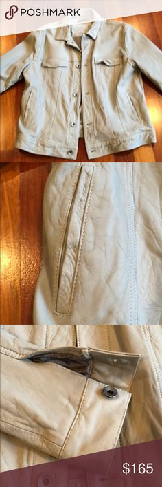 Theory men's leather jacket . Size XL . Barely worn . Modern short cut . Great condition Theory Jackets & Coats Military & Field