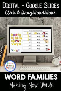 Using word families to increase the number of words a child can master is very effective. Instead of learning a couple of words per spell. Teaching Kindergarten, Student Learning, Teaching Ideas, Spelling Patterns, Classroom Freebies, Classroom Ideas, Making Words, Reading Resources, Primary Resources