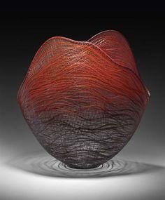Red Flame (2007) by Morigami Jin (b. 1969), Japanese timber bamboo (madake)