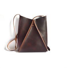 Oxblood Leather Hobo Crossbody Purse