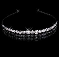 Headbands Wholesaler Funiuleleyexu Sells Best Selling Sparking One Row Rhinestone Clear Crystal Tiara Headband For Wedding Party Hair Accessories Bridal Jewelry | Dhgate.Com