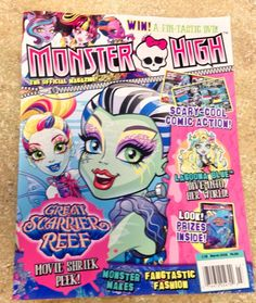 Monster High 2016 March Issue Just Released Great Scarier Reef New Magazine   eBay