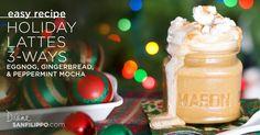 Paleo Lattes: Eggnog, Gingerbread, and Peppermint Mocha