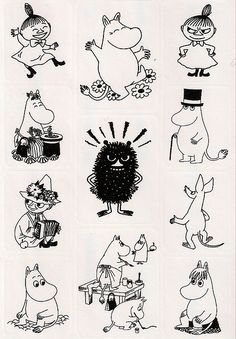Moomin sticker sheet