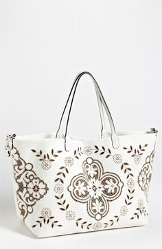 Valentino 'Glamorous Lace' Leather Tote