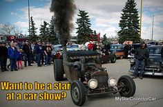 Six ways to arrive in style at a car show: http://www.mystarcollectorcar.com/2-features/editorials/2565-mscc-reveals-the-best-ways-to-become-the-hottest-star-at-a-car-show.html