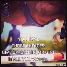 You have three choices...