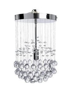 Denver Ceiling Light - Chrome | very.co.uk