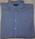 Men's Polo Ralph Lauren L/S Custom Fit Gingham Button Down Shirt Size XXL 2XL