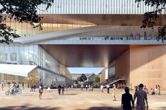 HASSELL and OMA have joined forces to design the New Museum for Western Australia. The contract to launch the anticipated project was awarded to the international contractor Brookfield Multiplex. Australia Occidental, Perth Australia, Western Australia, Architecture Concept Drawings, Architecture Visualization, Architecture Design, Museum Architecture, School Architecture, City Of Adelaide