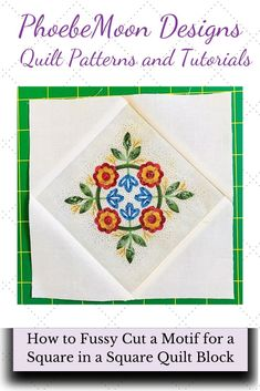 Here are some tips for cutting a fabric motif from fabric to use in a quilt block. Free Printable quilt pattern available by PDF download. #scrapdash Panel Quilts, Quilt Blocks, Scrappy Quilts, Baby Quilts, Sewing Tips, Sewing Hacks, Tea And Crumpets, I Spy Quilt, Quilting 101