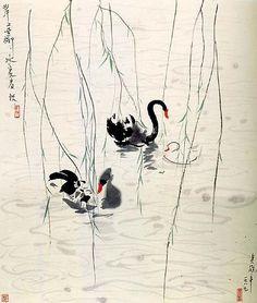 Swans 吴冠中