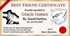Create A Best Friend Certificate For A Friend!