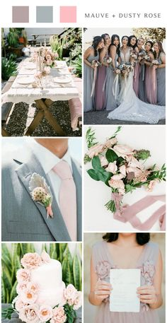 Mauve is probably one of my favorite shades of purple. It's a gorgeous, muted shade of light purple that has a slight tinge of grey. Lavender Wedding Colors, Dark Purple Wedding, Indigo Wedding, Gray Wedding Colors, Mauve Wedding, Summer Wedding Colors, Charcoal Wedding, Gray Weddings, Wedding Styles