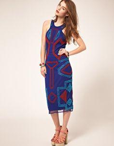 Image 4 ofASOS Midi Dress with Beading