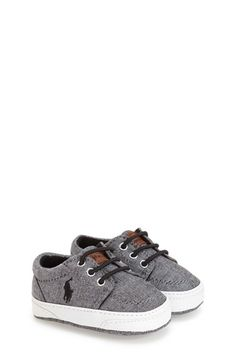 Ralph Lauren Layette 'Faxon II' Crib Shoe (Baby) available at #Nordstrom