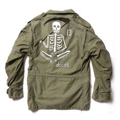 hand painted m65 jacket