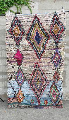 'rainbow brite' boucherouite rag rug