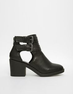 New Look | New Look Connie Cut Out Ankle Boots at ASOS