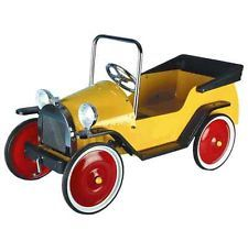 Children's Kids Classic Retro Harry Yellow Pedal Ride On Car Brum - Great Gizmos
