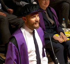 Tom Hardy receiving the award of Honorary Fellow from University of the Arts London -July 16th 2015