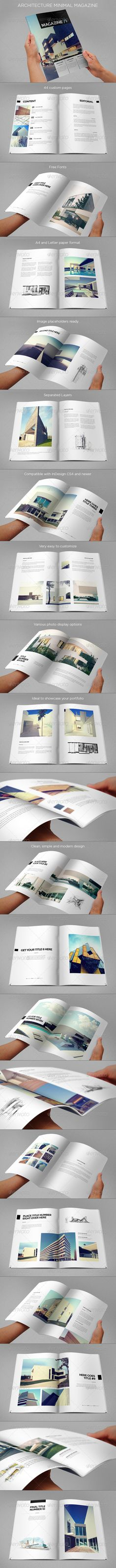 Architecture Minimal Magazine - Magazines Print Templates