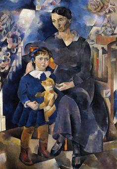 Баранов-Россине. Портрет Л.Я. и О.И. Рыбаковых. 1919-1921