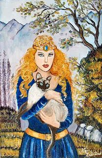 Norse Goddess of Love ~ I have to love her, she loves cats!