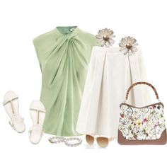"""Soft Green"" by staciegh on Polyvore"