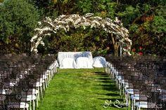 boda en blanco, pérgola de orquídeas, orchids Deco for ceremony